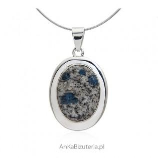 Wisiorek srebrny z kamieniem z K2 - biżuteria z kamieniem naturalnym