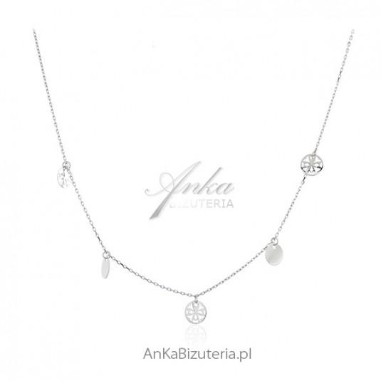 Naszyjnik choker - Modna biżuteria srebrna