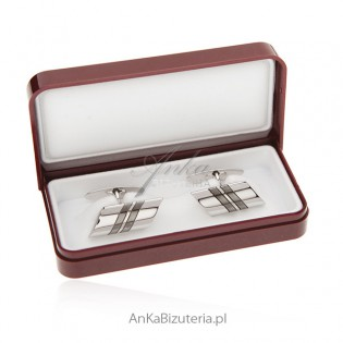 Spinka do mankietów srebro pr. 925 - Klasyczne