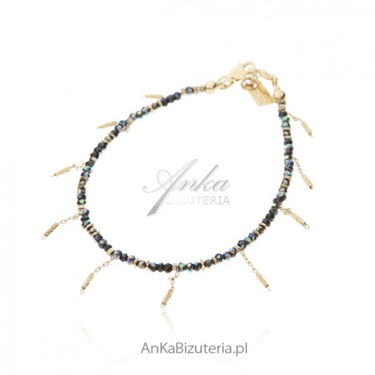 Biżuteria srebrna BOSKA bransoletka z cyrkonami