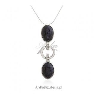 Biżuteria srebrna - Naszyjnik srebrny z Nocą Kairu
