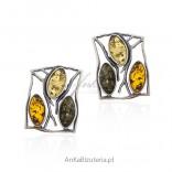 Kolczyki srebrne z bursztynem - elegancka biżuteria z bursztynem