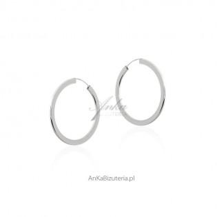 Kolczyki srebrne - KOŁA MAŁE -S -modna biżuteria srebrna