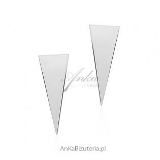 Kolczyki srebrne biżuteria srebrna włoska - TRÓJKĄTY