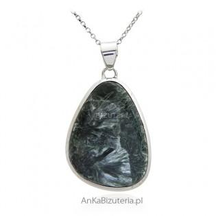 Zawieszka srebrna z zielonym SURPHANITE - UNIKATOWA biżuteria