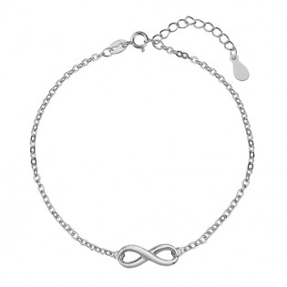 Bransoletka srebrna z nieskończonością - subtelna bransoletka srebrna