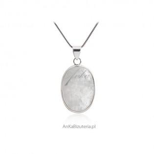 Zawieszka srebrna z kamieniem księżycowym Zawieszka rozm. S