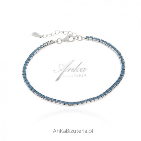 Bransoletka srebrna z turkusami - biżuteria srebrna