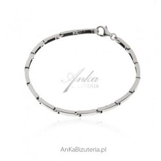 Bransoletka srebrna Klasyczna biżuteria srebrna