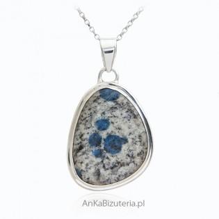 Srebrna biżuteria UNIKAT z naturalnym kamieniem K-2