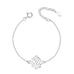 Bransoletka srebrna KWIAT LOTOSU - piękna biżuteria damska