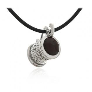 Biżuteria srebrna z bursztynem KUFEL PIWA