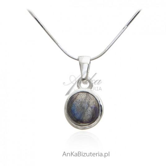 Wisiorek srebrny z LABRADORYTEM -urzekająca biżuteria srebrna