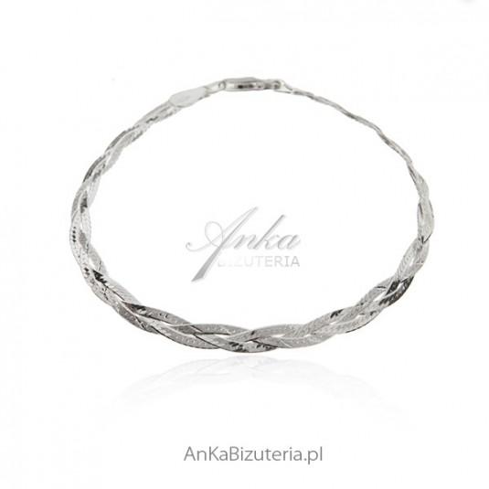 Bransoletka srebrna WARKOCZ 19 cm