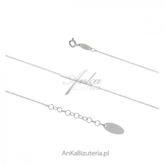 Bransoletka srebrna z PAŁECZKĄ elegancka skromna biżuteria włoska
