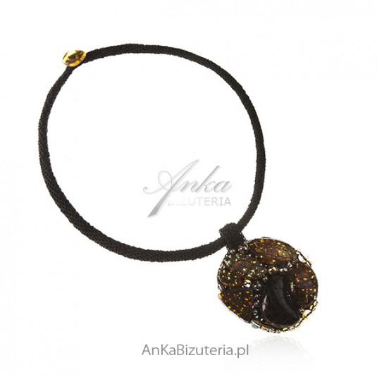 Autorska biżuteria ręcznie robiona z naturalnym bursztynem