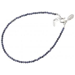 Srebrna bransoletka z syntetycznymi szafirami