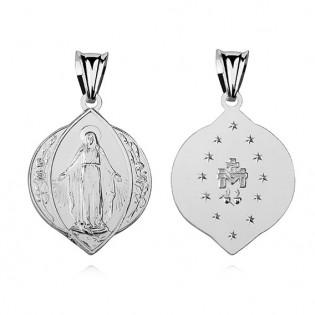 Medalik srebrny - Matka Boska Cudowna
