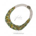 Piękny komplet biżuterii artystycznej - Unikalna biżuteria robiona ręcznie