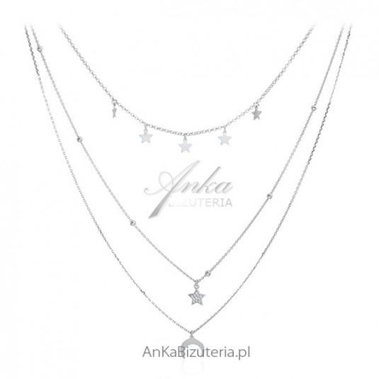 Perfekcyjna biżuteria włoska - naszyjnik srebrny KASKADA