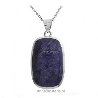 Biżuteria srebrna z fioletowym kamieniem CZAROITEM