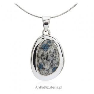 Biżuteria srebrna - Zawieszka srebrna z kamieniem z K-2