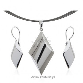 Biżuteria srebrna komplet 3D