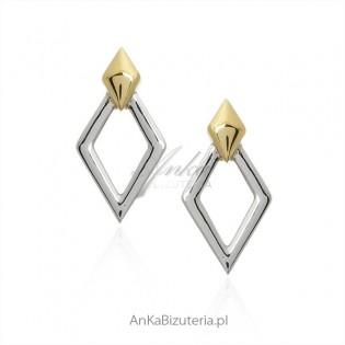 Biżuteria srebrna Kolczyki GEOMETRIC na sztyft