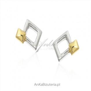 Biżuteria srebrna Kolczyki GEOMETRIC małe na sztyft