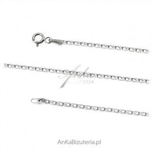 Łańcuszek srebrny rodowany CSQ