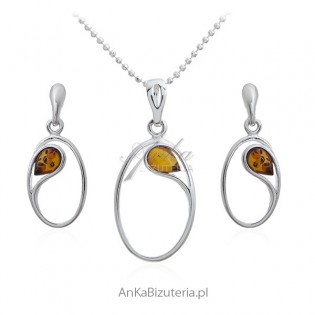 Biżuteria srebrna z bursztynem Subtelnie i elegancko