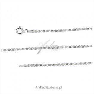 Łańcuszek srebrny RODOWANY BISMARK