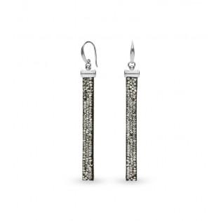 Srebrne kolczyki z kryształami Swarovski STRIPE ROCK CRYSTAL