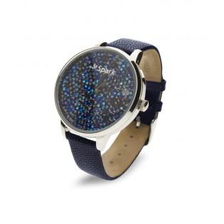 Zegarek z kryształami Swarovski - ZEGAREK CRONO BLUE