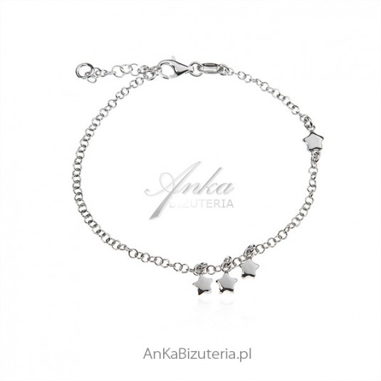 Biżuteria srebrna Bransoletka KSIĘŻYCE