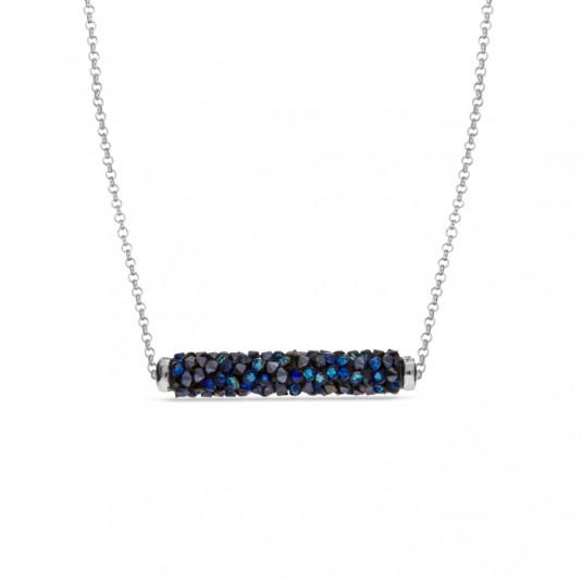 Srebrny naszyjnik z kryształami Swarovski Rock Tube