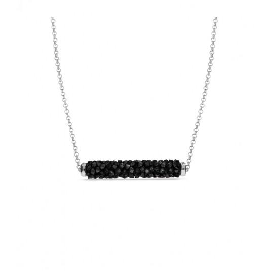Naszyjnik srebrny z kryształami Swarovski ROCK TUBE JET