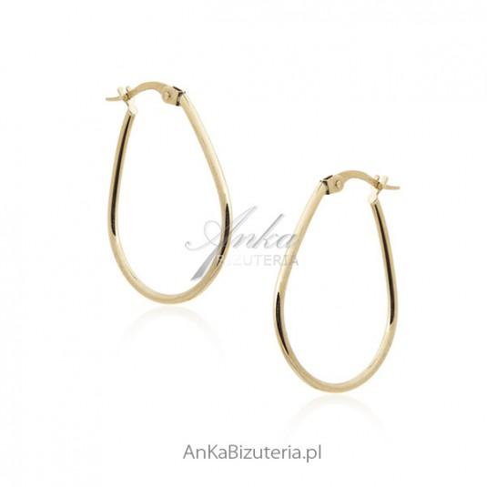 Kolczyki złote pr. 0,585 Klasyczna biżuteria złota