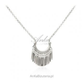 Naszyjnik srebrny z frędzelkami