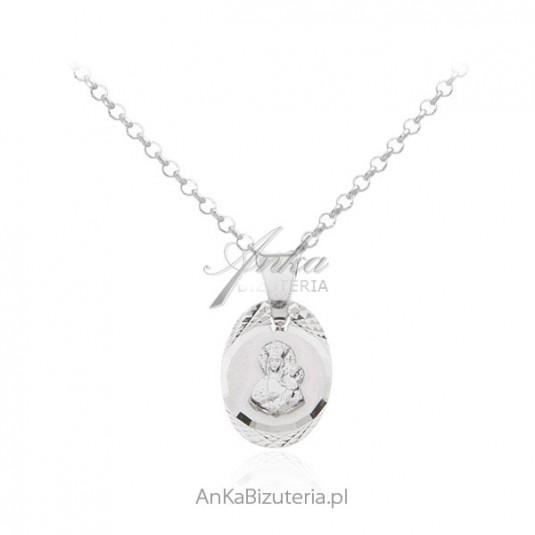 Medalik srebrny - Matka Boska Częstochowska