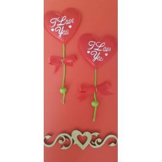 Kartka ręcznie robiona na Walentynki - wyjątkowy dodatek do bizuterii