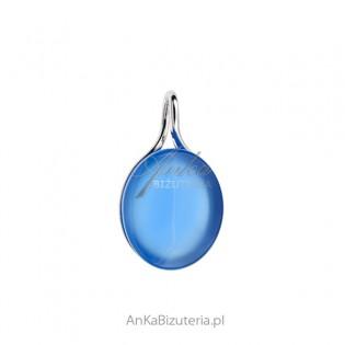 Srebrna zawieszka z niebieskim agatem