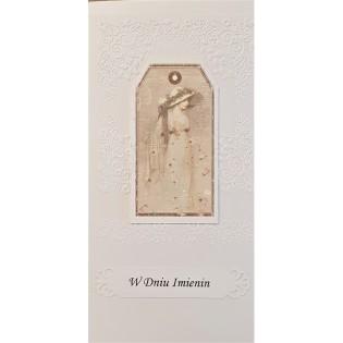 Kartka z życzeniami W DNIU IMIENIN - kartka ręcznie robiona