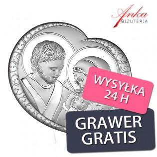 Pamiątka srebrna Obrazek srebrny Święta Rodzina
