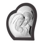 Srebrny obrazek Św. Rodzina z brązowym drewnem 18,5 cm* 22,5 cm