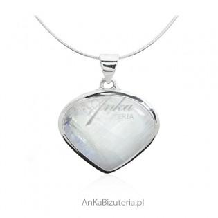 Biżuteria srebrna z kamieniem księżycowym - zawieszka srebrna