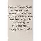 Pamiątka Pierwszej Komunii Świętej - kartka ręcznie robiona