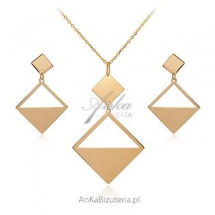 Biżuteria srebrna pozłacana Biżuteria GEOMETRIC