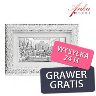 Obraz Ostatnia Wieczerza w srebrnej ramie 72 cm/47 cm
