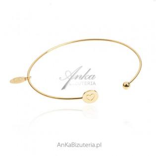 Srebrna bransoletka pozłacana - klasyczna biżuteria